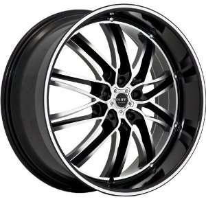 RUFF RACING WHE R947 BLACK/MACHINED 5X120 +20 STAGGERED