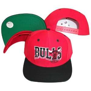 Chicago Bulls Wave Red/Black Two Tone Plastic Snapback Adjustable