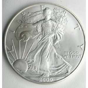 2000 US MINT AMERICAN SILVER EAGLE OZ $1 DOLLAR BU