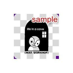 RANDOM LIFE IN CAVE 13 WHITE VINYL DECAL STICKER