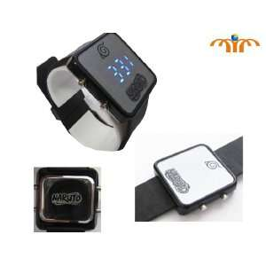Naruto Japanese Anime Blue LED Watch (Square) Everything