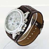 Luxury Brown Synthetic Leather Band Quartz Wrist Watch U5Z
