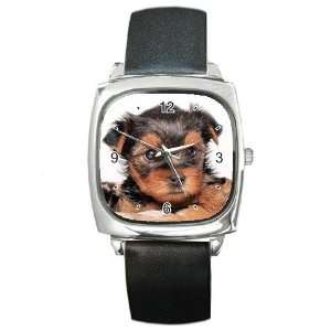Yorkshire Terrier Puppy Dog 8 Square Metal Watch FF0655