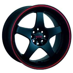17x7 XXR 962 (Matte Black w/ Red Stripe) Wheels/Rims 4x100