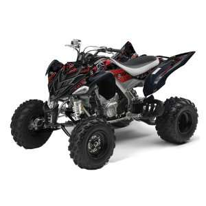 AMR Racing Yamaha Raptor 700 ATV Quad Graphic Kit   Toxicity Black