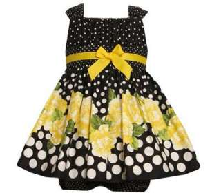 Jean Baby Girls Spring Polka Dot Floral Emma Sun Dress 18M