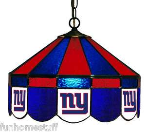 NEW YORK GIANTS NFL 16 STAINED GLASS HOME PUB BAR TABLE HANGING LAMP