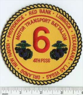 Transport Battalion PATCH Marines TRUCK unit trucking 6th Motor T