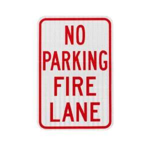 Elderlee, Inc. 9912.1 No Parking Sign, Fire Lane .100 Aluminum, 12 x