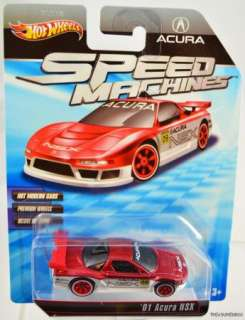 HOT WHEELS SPEED MACHINES 01 ACURA NSX #T4415 MINT CONDITION 2009 RED