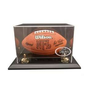 San Francisco 49ers Football Display Case with Black Finish Frame