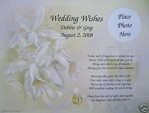 PERSONALIZED WEDDING WISHES POEM GIFT FOR BRIDE & GROOM