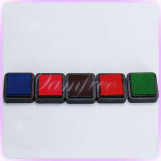 Color Stamps Ink Pad Craft Kid Party Favours 2.4cm
