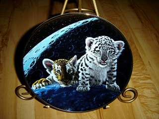 TOTAL ECLIPSE Siberian White Tiger SCHIM SCHIMMEL Franklin Mint PLATE