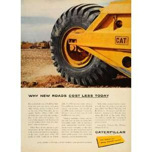 1956 Ad Caterpillar Yellow Farming Tractor Equipment