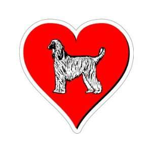 Afghan Hound Love   Window Bumper Sticker Automotive