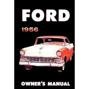 1956 FORD Car Full Line Owners Manual User Guide Automotive