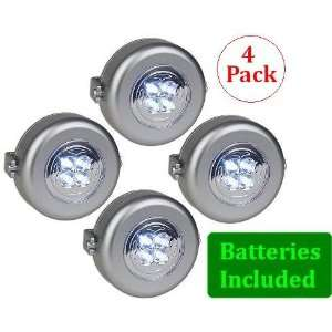 Sound Activated Powerful 4 LED Spotlights   4 Pack   Lights Up For 15