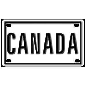 Canada 2 1/4 X 4 Aluminum Die cut Sign Arts, Crafts & Sewing