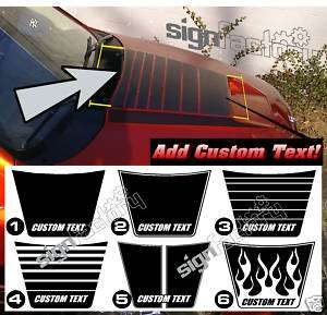 2002 and up Dodge Ram RAM AIR Hood Stripe Decal