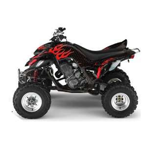 AMR Racing Yamaha Raptor 660 ATV Quad Graphic Kit   Diamond Flames
