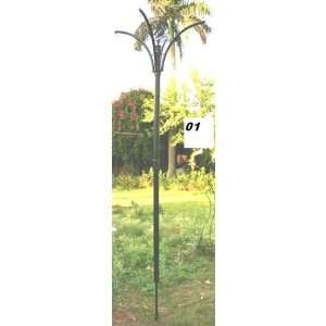 Flat Black Bird Feeder Pole