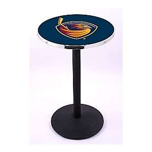 Atlanta Thrashers HBS Pub Table with Black Cast Foot Base
