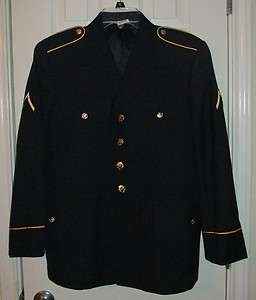 US Army Service Uniform ASU Dress Blue Enlisted Mens Uniform Coat