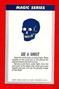 Old See A Ghost Magic Trick Chicago Vending Card