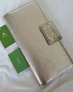 NWT NEW Kate Spade Montpelier Travel Wallet Gold Clutch