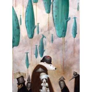 Bill Carman Narwhal Rain Wooden Jigsaw Puzzle Toys