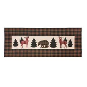 Lodge Bear Deer Indoor Outdoor Table Runner Climaweave