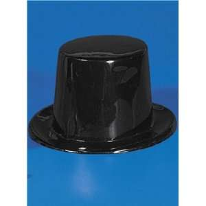Black Plastic Birthday Party Favor Top Hats [Toy]