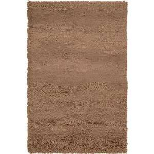 2 x 3 Berme Driftwood Brown Wool Shag Area Throw Rug