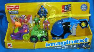 FISHER PRICE IMAGINEXT DC SUPER FRIENDS SET WITH DVD GREEN LANTERN