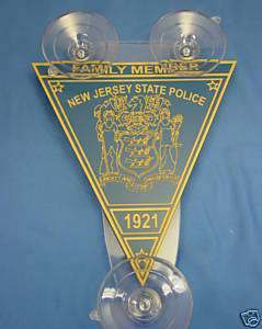 NEW JERSEY STATE POLICE CAR SHEILDS, FAMILY MEMBER 2