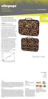 Oliepops Brown Leopard Print Laptop Case fits 15   16 Special Edition