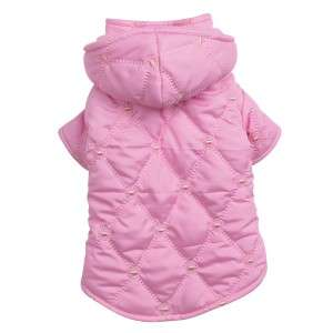 East Side Collection Quilted Pastel Dog Coat Jacket NEW
