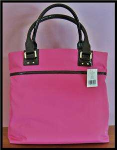 KATE SPADE Blakely Prince St Pink nylon Black Patent leather tote bag
