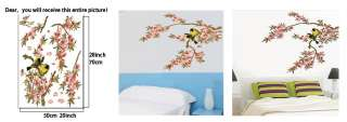 REMOVABLE Flowers BRANCE Trees Birds 70*50cm Wall decor WALL Sticker