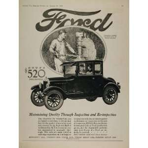 1926 Ad Ford Model T Coupe Brinnel Testing Instrument