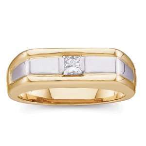 14K Yellow Gold Diamond Mens Ring Jewelry