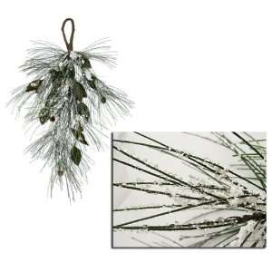 Snow Pine Cone Artificial Christmas Teardrop Swags 28