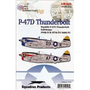 47 Bubbletops of the 368th Fighter Group (1/48 decals) Toys & Games