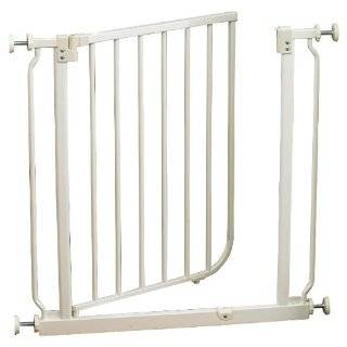 North States Supergate Easy Close Metal Gate, White