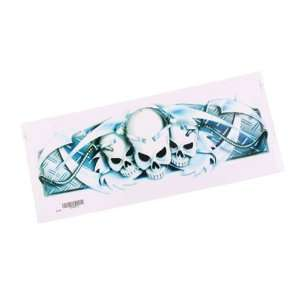 10 x Motorcycle Decal with Three Skull Head Logo