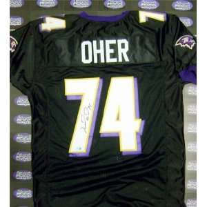 Michael Oher Autographed/Hand Signed football jersey