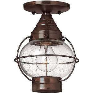 Light. Cape Cod Flush Ceiling Porch Light With Clear Seedy Glass