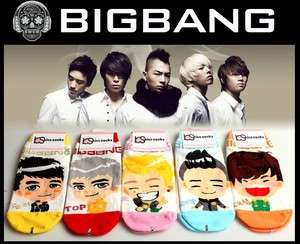 POP] BIGBANG G DRAGON Band Women Socks Korean Super Star Character