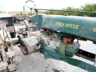 John Deere UNSTYLED G Tractor on Dual rear Steel wheels